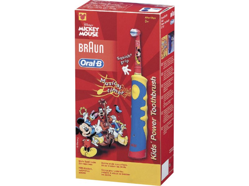 Зубная щетка braun oral b mickey