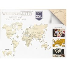 Wooden City Puzzle World map size XXL color...