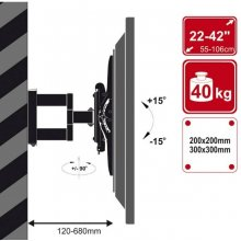 4World Single Arm Wall Mount for LCD / PDP...