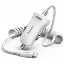 Hama Lightning Car Charger 2.4A White