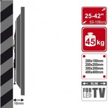 "4World Wall TV bracket 25-75 "" 45kg capacity..."