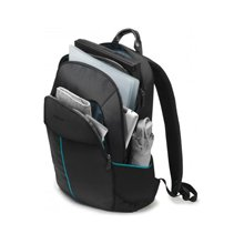 "Dicota Backpack Trade 14-15.6"" Black whit..."