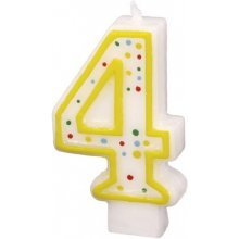 AMSCAN Numeral Candle 4