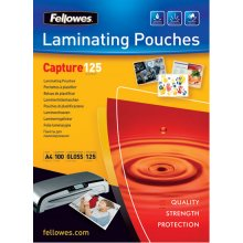 FELLOWES Glossy Pouches 54 x 86mm 100 pcs...