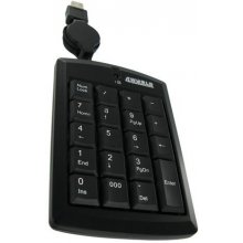 4World Numeric Keypad USB with retractable...