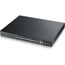 "ZYXEL Switch 19"" 24x GE GS2210-24HP SNMP 2x..."