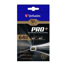 Mälukaart Verbatim microSDXC Pro+ 64GB Class...