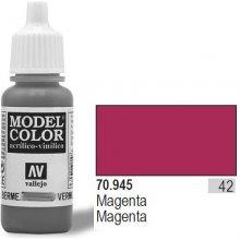 Vallejo Paint NR 42 Magenta Matt 17ml
