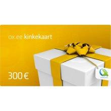 OX.ee kinkekaart 300 €