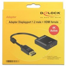 Delock адаптер Displayport 1.2 male > HDMI...