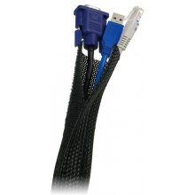 LogiLink paindlik cable organiser, black
