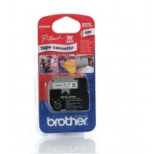 BROTHER Schriftbandkassette 9mm valge/must...