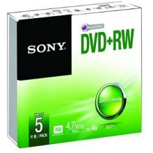 Диски Sony DVD+RW 4.7GB, 4.7, DVD+RW, 4x...