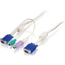 LevelOne 1.8M PS/2 и USB KVM кабель