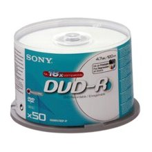 Диски Sony DVD-R 4.7GB 16X