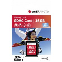 Флешка AGFAPHOTO SDHC Card 16GB High Speed...