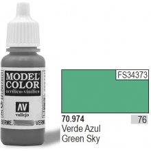 Vallejo Farba Nr 76 roheline Sky Matt 17 ml