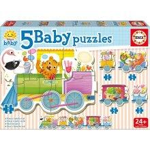 Educa Baby Puzzle 19 items Animals train