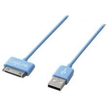 LogiLink USB Daten-/Ladekabel 1m sinine