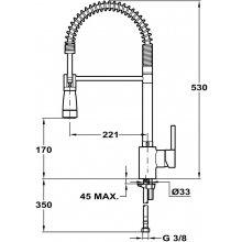 Teka ARK 939 valge Kitchen faucet