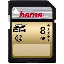 Mälukaart Hama High Speed Gold SDHC 8GB
