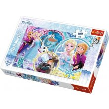 TREFL Puzzle 100 pcs - Frozen, The land of...