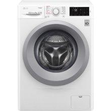 c194205651e LG Washing mashine F2J5NY4W Front loading, Washing capacity 6 kg, 1200 RPM, Direct  drive, A+++-10%, Depth 45 cm, Width 60 cm, white, Steam function, LED, ...