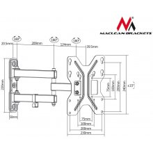 "Maclean TV bracket 23-42"" MC-648 30kg"