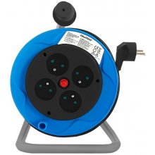 Qoltec kaabel reel | 4 power socket | 15,0m