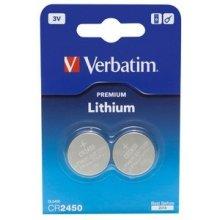 Verbatim liitium aku CR2450 3V 2 Pack
