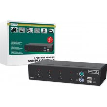 DIGITUS KVM-Switch 1 User -> 4 PCs (je PS/2...