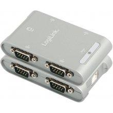 LogiLink адаптер USB 2.0 -> 4x Seriell