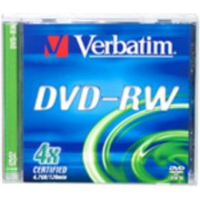 Диски Verbatim 1x5 DVD-RW 4,7GB 4x Speed...