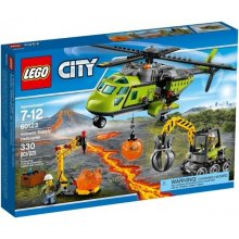 LEGO Volcano helicopter delivery