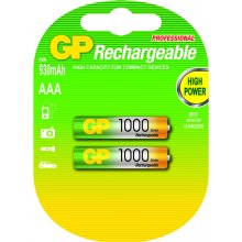 GP батарея AAA 1000mAh, 2tk