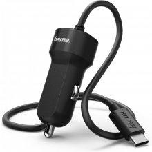 Hama Autolaadija USB-C juhe 3A, must