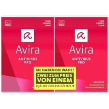 Avira AntiVirus Pro 2015 1+1 User Win CD-Rom