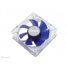 AKASA 8cm Silent blue colour fan, Blue, 80 x...