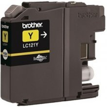 Tooner BROTHER LC-121Y, kollane, DCP-J752DW...