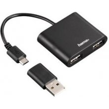 Hama USB-2.0-OTG-Hub 1:2 für Smartphone...