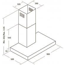 Õhupuhasti CATA Selene Wall-mounted, 90 cm...