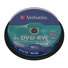 Toorikud Verbatim DVD-RW 4.7GB 4X 10er...