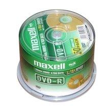 Диски Maxell диск DVD-R 4,7 16x cake 50