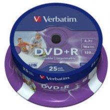 Диски Verbatim DVD+R 4.7GB 16X 25er Spindel