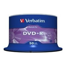 Verbatim DVD+R [ 50pcs, 4.7GB, 16x, spindle...