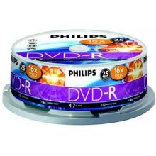Toorikud Philips DVD-R 4.7GB 16X