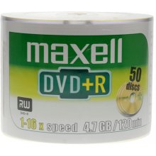 Диски Maxell диск DVD+R 4,7 16x spindle 50