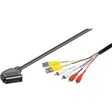 OEM SCART male- 2 x BNC plug + 4 x RCA 1.5...