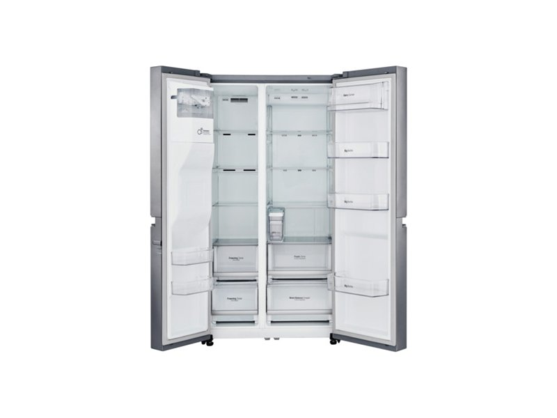 k lmik lg gsl760pzxv free standing side by side height 179 cm a no frost system fridge net. Black Bedroom Furniture Sets. Home Design Ideas