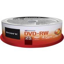 Диски Sony DVD-RW 4x, 25, 4.7, DVD-RW, 4x